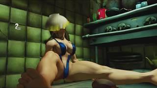 Chun Li Bikini Mod | Chun Li Losing Scenes | Street Fighter V Bikini losing scenes
