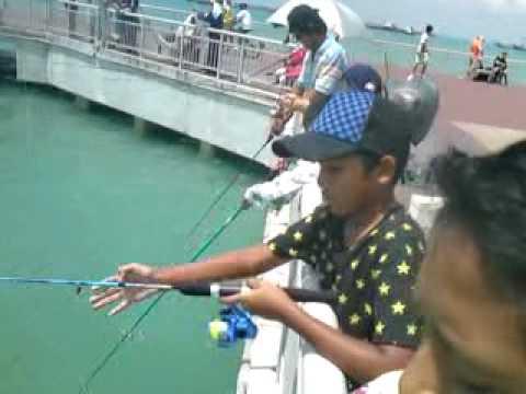 Fishing at Bedok Jetty