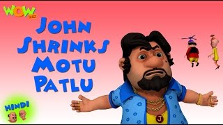 John Shrinks Motu Patlu - Motu Patlu in Hindi - 3D Animation Cartoon for Kids -As on Nickelodeon