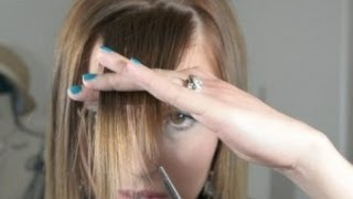 How To Cut Perfect Side Swept Bangs At Home, Bang Trim, How To Cut Straight Across Bangs Or Fringe