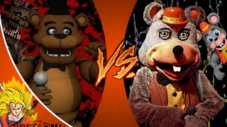 FREDDY FAZBEAR vs CHUCK E CHEESE! Cartoon Fight Club Episode 22 REACTION!!!