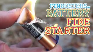 Gum Wrapper Fire Starter //  DOES THIS COOL LIFE HACK WORK?