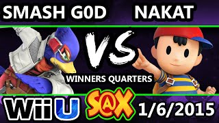 S@X - VGz | Smash GoD (Falco) vs. LoF | Nakat (Ness) SSB4 Singles - Smash 4 Wii U