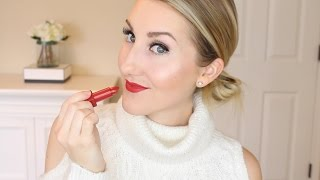 THE RED LIPSTICK THAT WORKS FOR EVERYONE & HOLIDAY SPARKLE TUTORIAL