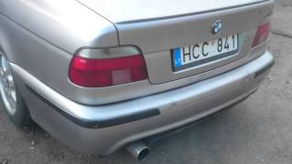 E 39 m 525 TDS chip tuning 120kw stock engine engine, exhaust sound