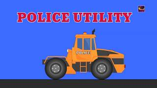 Transformer | Police Car | Police Tow Truck | Police Utility Vehicle | cartoon cars for kids