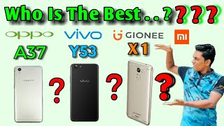 GIONEE X1 Unboxing & Vs OPPO A37, ViVO Y53, Mi