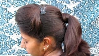 PONITAIL WITH PUFF HAIRSTYLE || COLLAGE GIRLS HAIRSTYLE