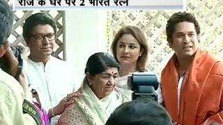 Lata, Sachin meet at Raj Thackeray's house