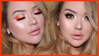 GLITTER CUT-CREASE LINER & Glowy Spring Makeup Tutorial