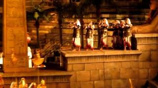 inquadratura trombe egizia in Aida