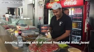 ISRAELI STREET FOOD Amazing Falafel Skill , AFULA Falafel Golani מפגש פלאפל גולני עפולה