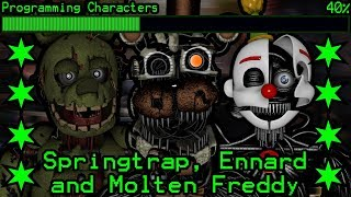 How will Springtrap, Molten Freddy and Ennard work in Ultimate Custom Night?