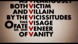 V (V for Vendetta Kinetic Typography)