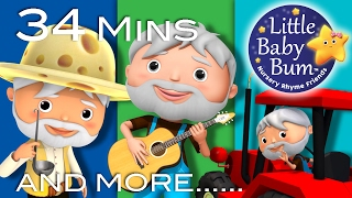 Old MacDonald Videos! | Plus Lots More Songs | 34 Mins Compilation by LittleBabyBum!