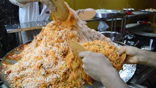 INDIA'S BIGGEST Fried Rice Cooking | 500 Plates of Tawa Pulao | Indian Street Food