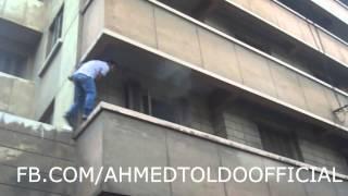 مشاهد من داخل عمارة العفاريت برشدى بالاسكندرية