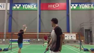 Friendly fun double game with Taufik Hidayat at Taufik Hidayat Arena