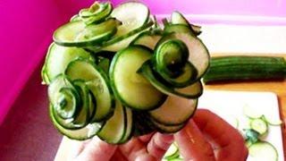 Art In Cucumber Show - Vegetable Carving Rose Tutorial