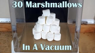 What Happens When You Put 30 Marshmallows In A Huge Vacuum Chamber?