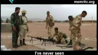 Foot Drills Iranian Style Soldiers Disassemble Machine-Guns with Bare Feet