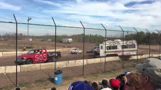Humberstone Speedway Eve of Destruction 2014 part of trailer race