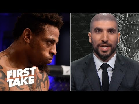 Greg Hardy shouldn t be on the same UFC Fight card as Rachael Ostovich Ariel Helwani First Take