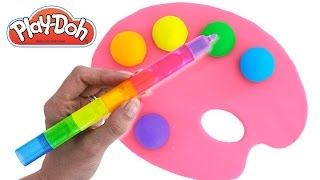 Learn Colors with Play Doh Animal Molds Elephant Lion Fun & Creative for Kids RainbowLearning