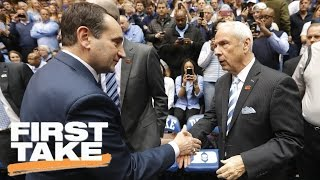 Would You Rather Play For Roy Williams Or Mike Krzyzewski? | First Take | April 4, 2017