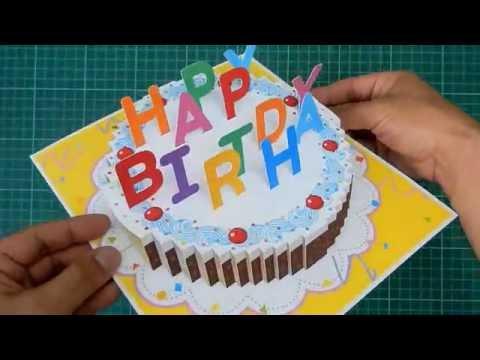 Xxx Mp4 Happy Birthday Cake Pop Up Card Tutorial 3gp Sex