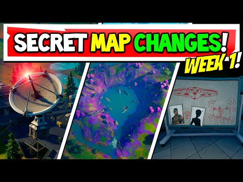 Fortnite Season 7 SECRET MAP CHANGES Everything That Changed Week 1 Xbox PS5 PC Mobile