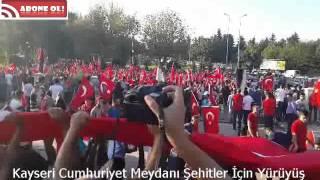 Kayseri Cumhuriyet Meydanı Şehitler İçin Miting