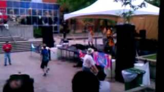Guys dancing to Billy Johnson at Peavey Plaza