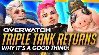 Overwatch | TRIPLE TANK RETURNS - Here's Why It's A Good Thing! (Pro Breakdown)