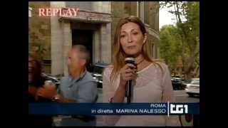 Gabriele Paolini aggredito in diretta al TG1 in difesa degli operai Alcoa in protesta