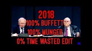 TIMESAVER EDIT FULL Q&A Warren Buffett Charlie Munger Berkshire Hathaway Annual Meeting 2018