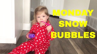 SNOWY MONDAYS CALL FOR BUBBLES