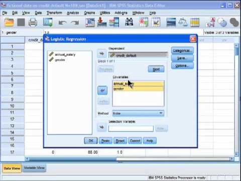 Logistic Regression - SPSS (part 1)