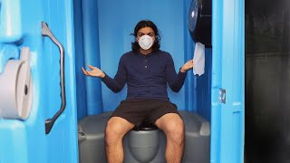 I Spent The Night In A Porta Potty And It Felt Sh*tty! (Sleeping In A Porta Potty Challenge)