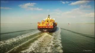 DJI Phantom 3 Pro - Container ship MSC Anahita (4k)
