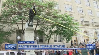Durham sheriff working to ID, charge protesters who tore down Confederate statue