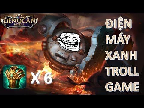 Liên Quân Mobile Troll game cùng OMEGA điện máy xanh max tốc chạy vs team troll 5ap