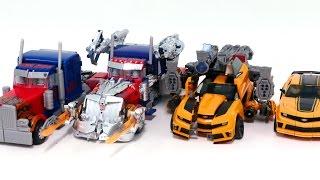Transformers Movie 3 Dotm Leader Bumblebee Optimus Prime Same 4 Vehicles Truck Robot Car Toys