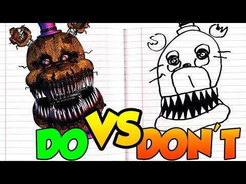 Xxx Mp4 DOs Amp DON 39 Ts Drawing Five Nights At Freddy 39 S Nightmare Fredbear In 1 Minute CHALLENGE 3gp Sex