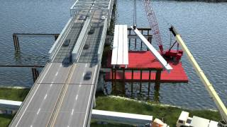 The I-5 Skagit River Bridge Replacement Project Time Lapse and Animated 3D Models