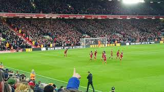 Celebrations after Mo Salah's second goal vs Southampton at Anfield 18/11/2017
