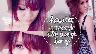 How to Cut & Style Side Swept Bangs at Home