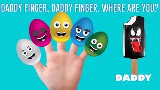 Spiderman Frozen Elsa Hulk Venom Joker Ice Cream Finger Family Song | Daddy Nursery Rhymes