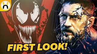 VENOM First Look at Suit Promo Art & Logo
