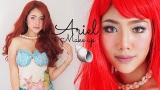 แต่งหน้าลุคเมอเมด Ariel Makeup | Archita Station